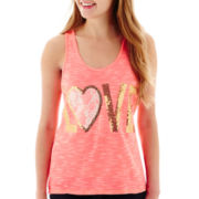 Miss Chievous Sequin-and-Lace Tank Top