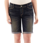 Arizona Roll-Cuff Bermuda Shorts - Juniors Plus