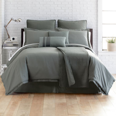 jcpenney.com | Studio™ Micro Grid 4-pc. Comforter Set + BONUS Coverlet Collection