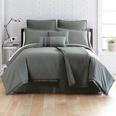 Studio Micro Grid 5 Pc Comforter Set Accessories