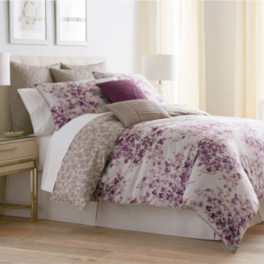 jcpenney.com | Liz Claiborne® Plum Garden 4-pc. Comforter Set & Accessories