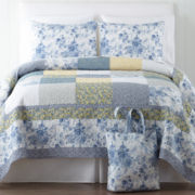 Home Expressions™ Grace Quilted Bedspread Set + BONUS Tote Bag