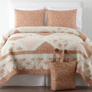 Home Expressions™ Sophia Quilted Bedspread Set + BONUS Tote Bag Collection