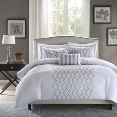 jcpenney.com | Madison Park Lillian Embroidered 6-pc. Duvet Cover Set