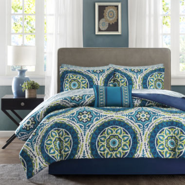 jcpenney.com | Madison Park Essentials Odisha Medallion Complete Bedding Set with Sheets