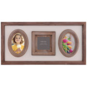 Burnes of Boston® Heartfelt Distressed 3-Opening Photo Frame