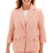 Alfred Dunner® Romancing Stone 3/4-Sleeve Pintuck Jacket