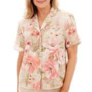 Alfred Dunner® Romancing Stone Short-Sleeve Floral Print Blouse