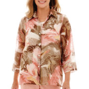 Alfred Dunner® Romancing Stone 3/4-Sleeve Layered Blouse