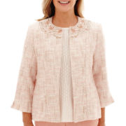 Alfred Dunner® Romancing Stone Beaded Bouclé Jacket
