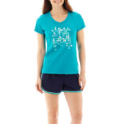 Made For Life™ Sporty Graphic T-Shirt or Tricot Shorts