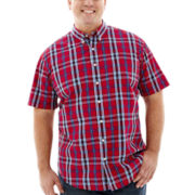 The Foundry Supply Co.™ Short-Sleeve Easy-Care Plaid Shirt–Big & Tall