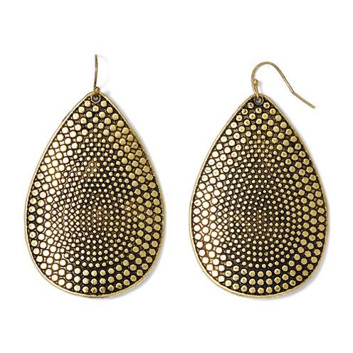 Decree® Gold-Tone Textured Drop Earrings