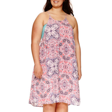 jcpenney.com | Decree® Swing Halter Dress - Juniors Plus
