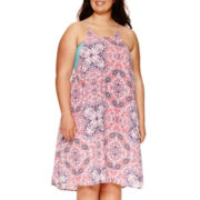 Decree® Swing Halter Dress - Juniors Plus