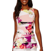 Worthington® Sleeveless Flounce Peplum Top - Tall