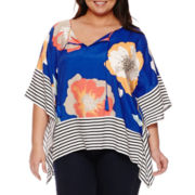 Stylus™ Woven Poncho Top - Tall