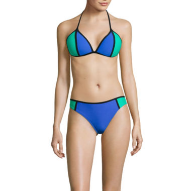 jcpenney.com | Arizona Colorblock Push-Up Triangle Swim Top or Colorblock Hipster Swim Bottom - Juniors