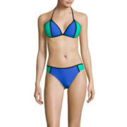 Arizona Colorblock Push-Up Triangle Swim Top or Colorblock Hipster Swim Bottom - Juniors
