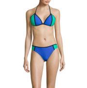 Arizona Colorblock Push-Up Triangle Swim Top or Colorblock Hipster Swim Bottom - Juniors