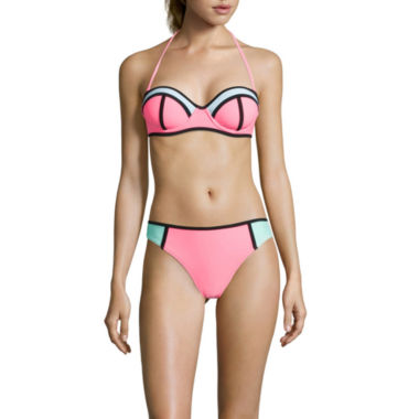 jcpenney.com | Arizona Colorblock Push-Up Bandeau Swim Top or Hipster Swim Bottom - Juniors
