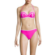 Arizona Colorblock Push-Up Bandeau Swim Top or Hipster Swim Bottom - Juniors