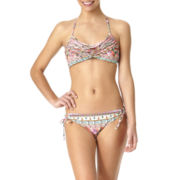 Arizona Gypsy Stripe Chevron Swim Top or Swim Bottoms - Juniors