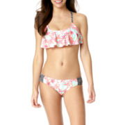 Arizona Palm Springs Crochet Flounce Swim Top or Swim Bottoms - Juniors