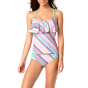 Arizona Flounce Tankini Swim Top or Swim Bottoms - Juniors