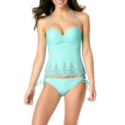 Arizona Lasercut Bandeau Tankini Swim Top or Swim Bottoms - Juniors