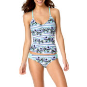 Arizona Daisy Daze Floral Tankini Swim Top or Swim Bottoms - Juniors
