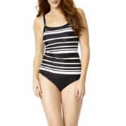 St. John's Bay® Striped Camikini Swim Top or Swim Bottoms