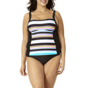 St. John's Bay® Striped Tankini Swim Top or Swim Bottoms - Plus