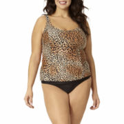 St. John's Bay® Animal Print Tankini Swim Top or Swim Bottoms - Plus