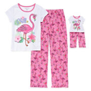 Flamingo 2-pc. Pajama Set with Matching Doll Outfit - Girls 4-16