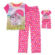 Rabbit 2-pc. Pajama Set with Matching Doll Outfit - Girls 4-16