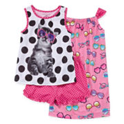 Cat 3-pc. Pajama Set - Girls 4-16