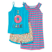 Donut 3-pc. Pajama Set - Girls 4-16
