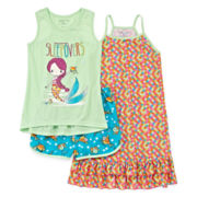 Mermaid 3-pc. Pajamas Set - Girls 4-16