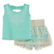 Knit Works Top and Shorts Set - Preschool Girls 4-6x