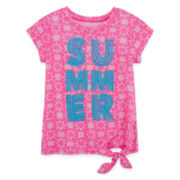 Arizona Short-Sleeve Side-Tie Tee - Toddler Girls 2t-5t