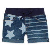 Arizona Relaxed-Fit Denim Shortie Shorts - Preschool Girls 4-6x