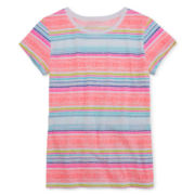 Arizona Short-Sleeve Striped Tee - Girls 7-16 and Plus