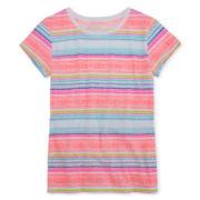 Arizona Short-Sleeve Striped Tee - Girls 7-16 and Plus