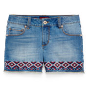 Arizona Embroidered Denim Shorts - Girls 7-16 and Plus