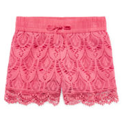 Arizona Crochet Shortie Shorts - Girls 7-16
