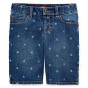 Arizona Star-Print Bermuda Denim Shorts - Girls 7-16