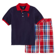U.S. Polo Assn.® 2-pc. Tee and Shorts Set - Preschool Boys 4-7
