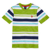 U.S. Polo Assn.® Short-Sleeve Solid-Stripe Tee - Preschool Boys 4-7