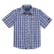 U.S. Polo Assn.® Short-Sleeve Woven Plaid Shirt - Preschool Boys 4-7